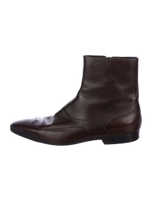 Gucci Leather Ankle Boots brown