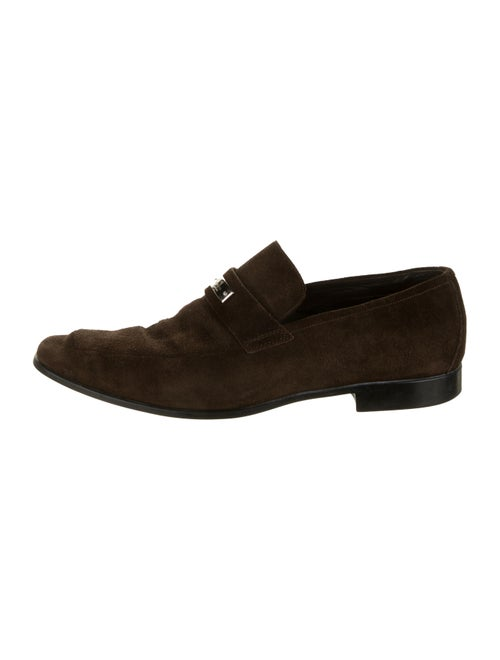 Gucci Suede Dress Loafers brown