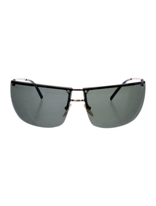 Gucci Rimless Shield Sunglasses gold