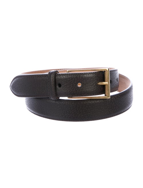 Gucci Leather Buckle Belt gold