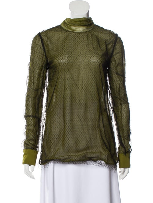 Gucci Turtleneck Long Sleeve Top Green
