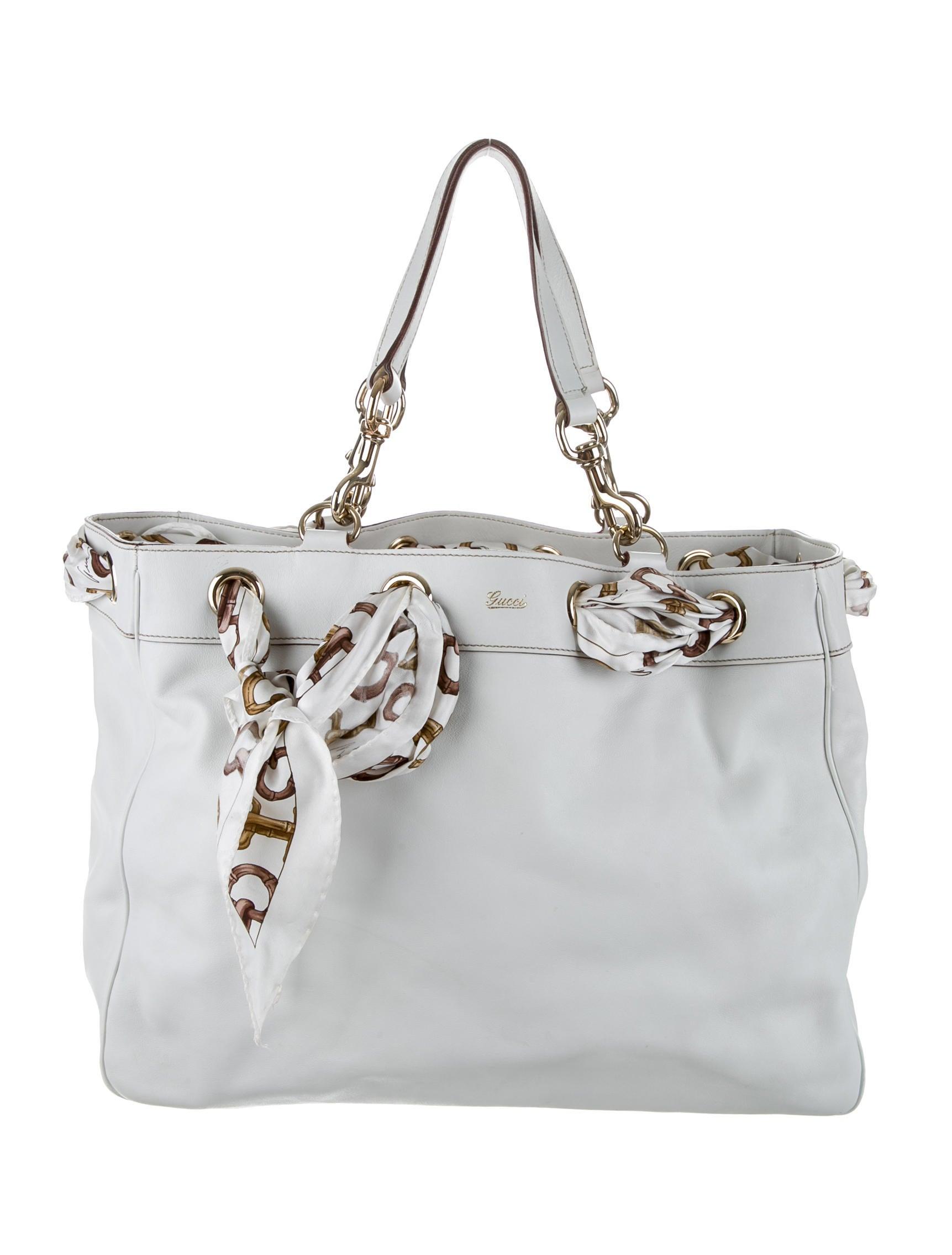 e5e9a70b1cd Gucci Large Positano Scarf Tote - Handbags - GUC46070