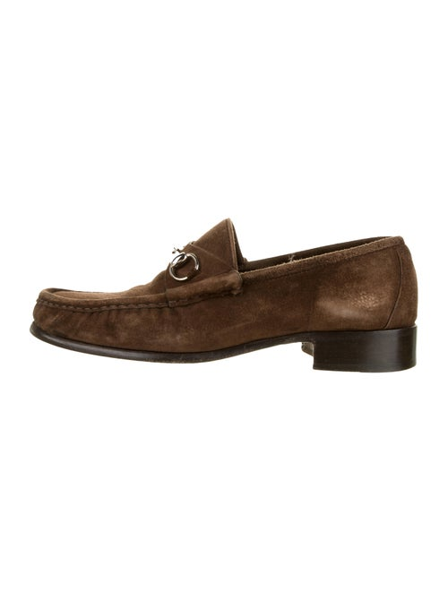Gucci Suede Horsebit Loafers khaki