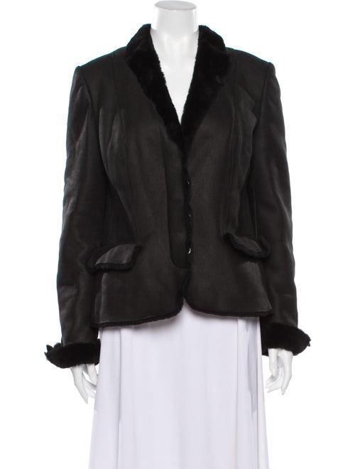 Gucci Leather Blazer Black