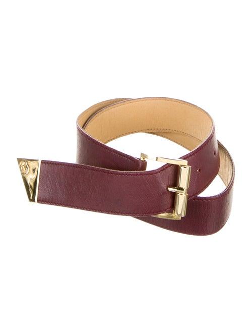 Gucci Vintage Leather Belt Red