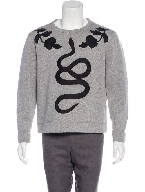 Gucci Kingsnake Neoprene Sweatshirt grey
