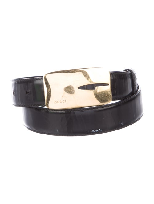 Gucci Patent Leather Belt Black