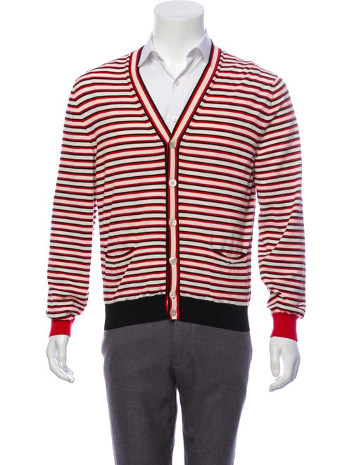 Gucci Striped Wool Cardigan beige