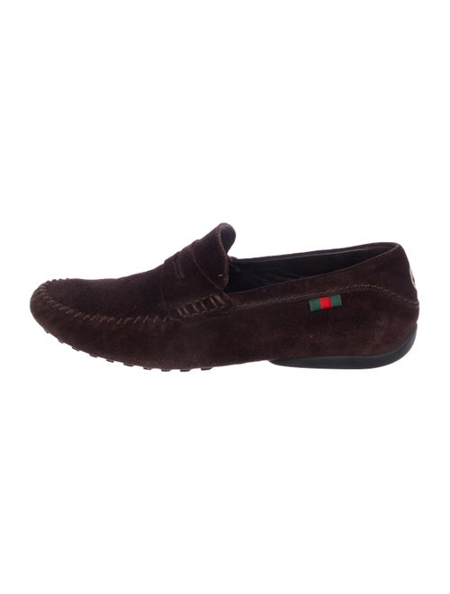 Gucci Suede Web Loafers brown