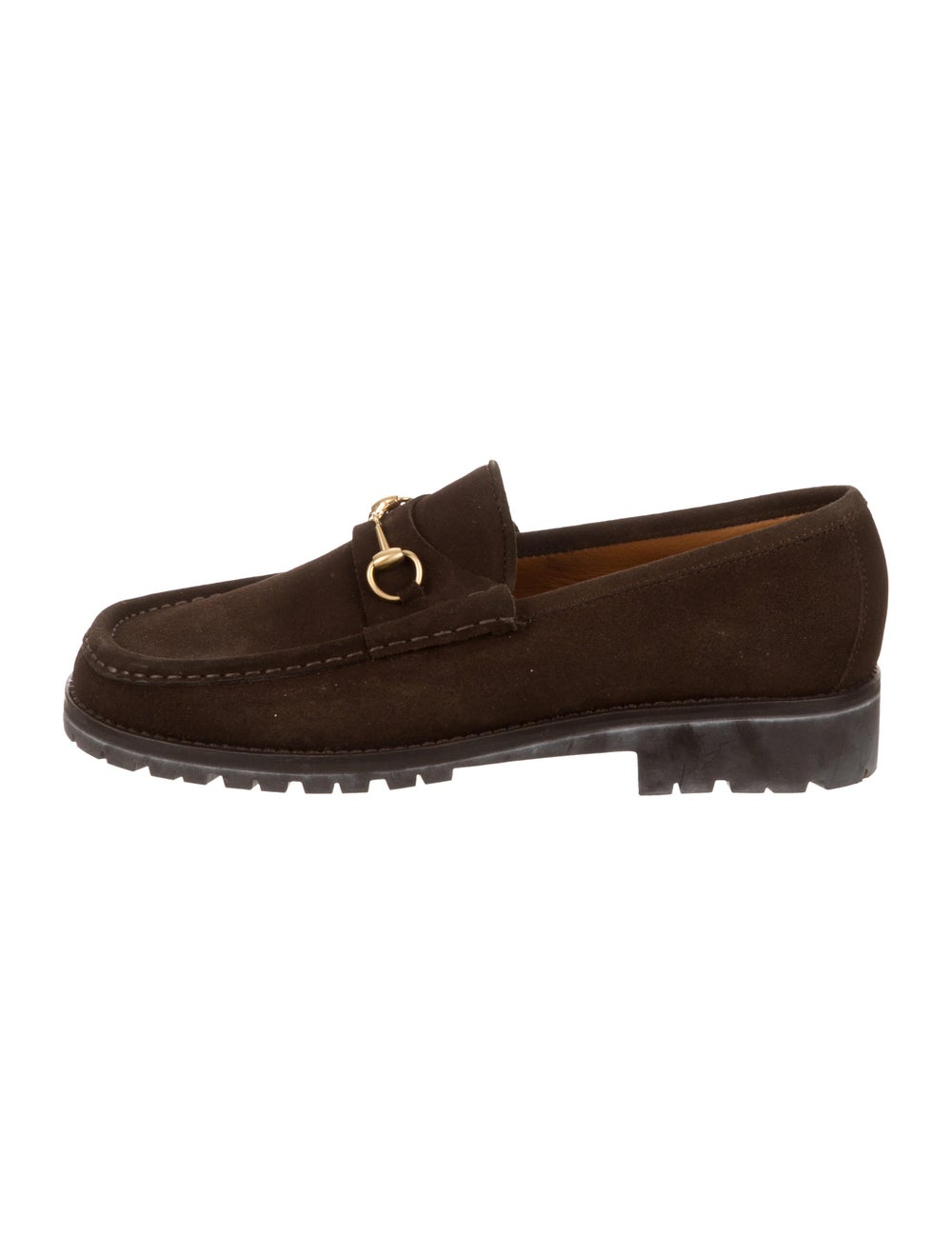 Gucci Suede Horsebit Loafers brass - image 1