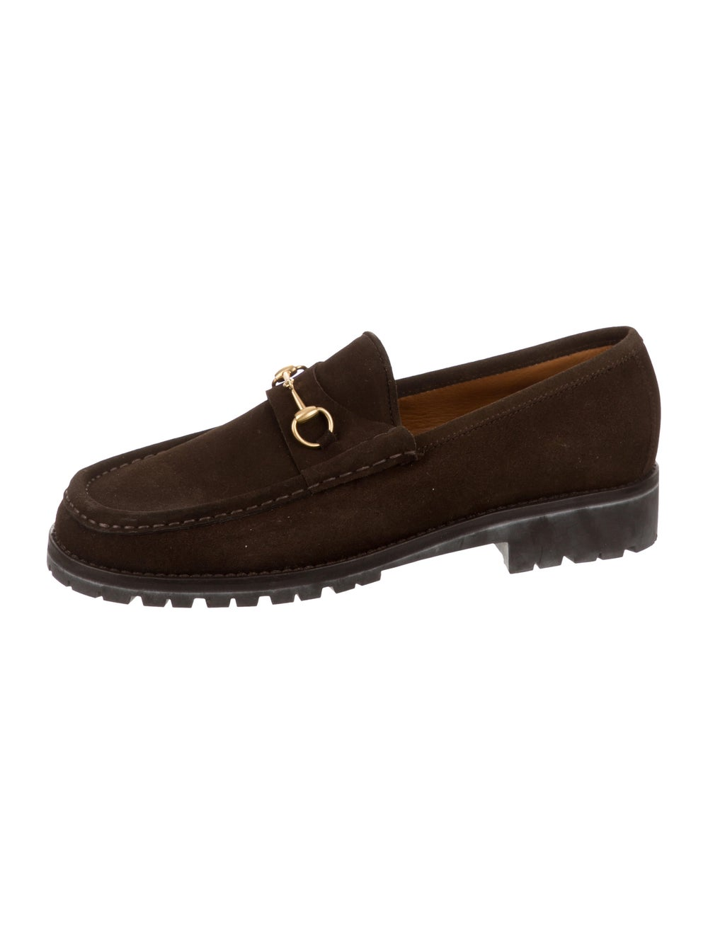 Gucci Suede Horsebit Loafers brass - image 2
