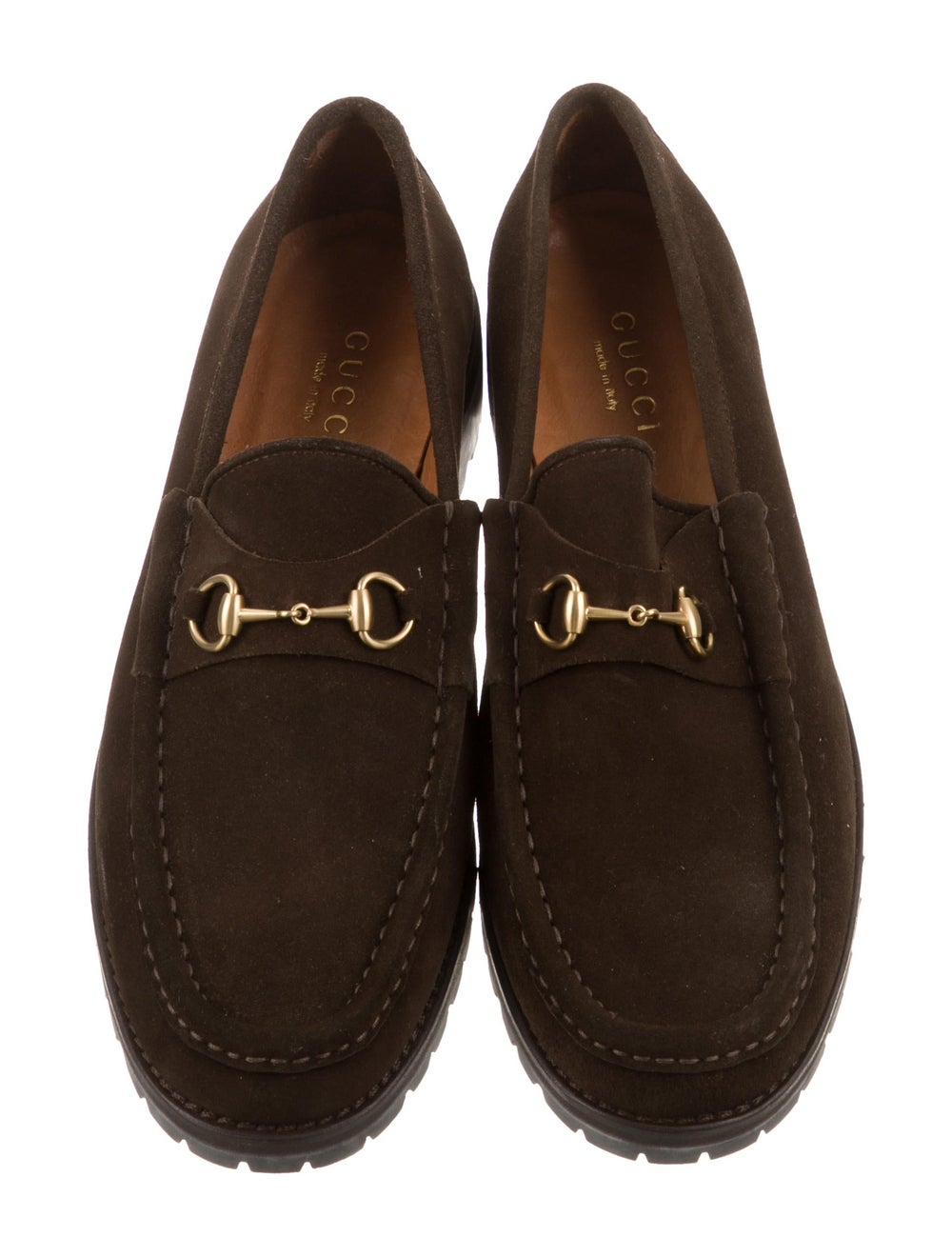 Gucci Suede Horsebit Loafers brass - image 3