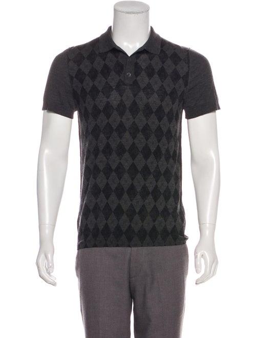 Gucci Argyle Polo Shirt black