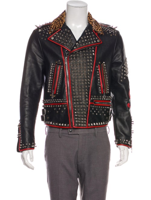 Gucci Leather Studded Jacket black