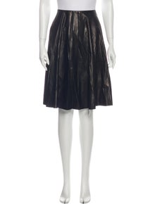 Gucci Leather Knee-Length Skirt