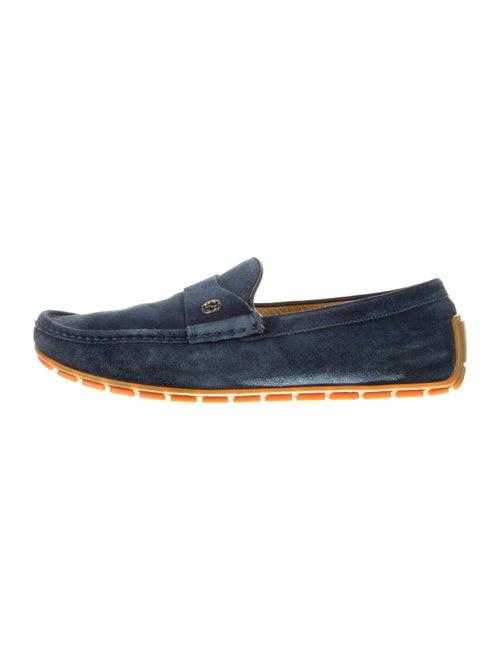 Gucci Suede Driver Loafers blue