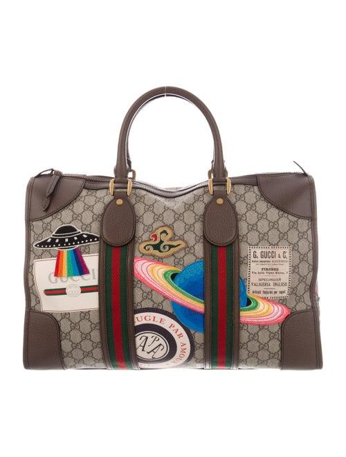 Gucci Courrier Soft GG Supreme Satchel brown