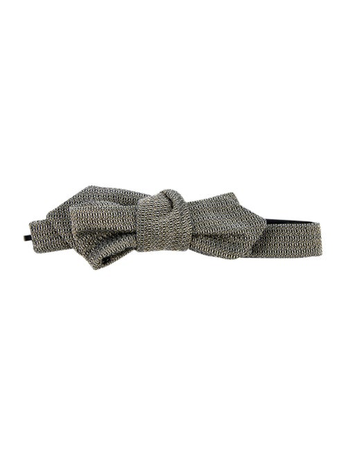 Gucci Woven Bow Tie gold
