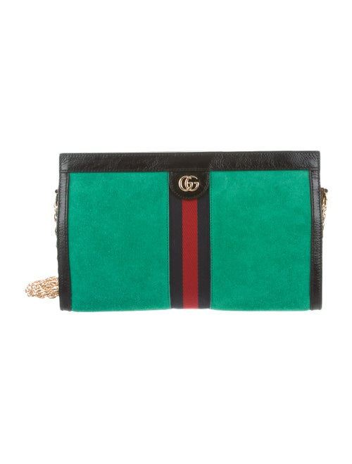 Gucci Suede Medium Ophidia Bag green
