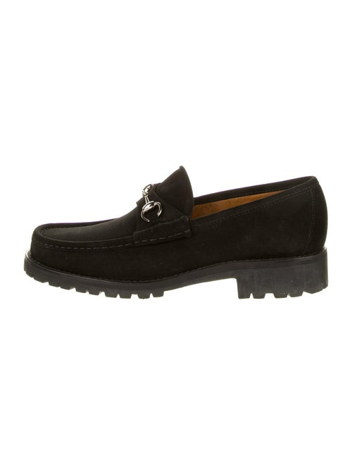 Gucci Suede Horsebit Loafers black