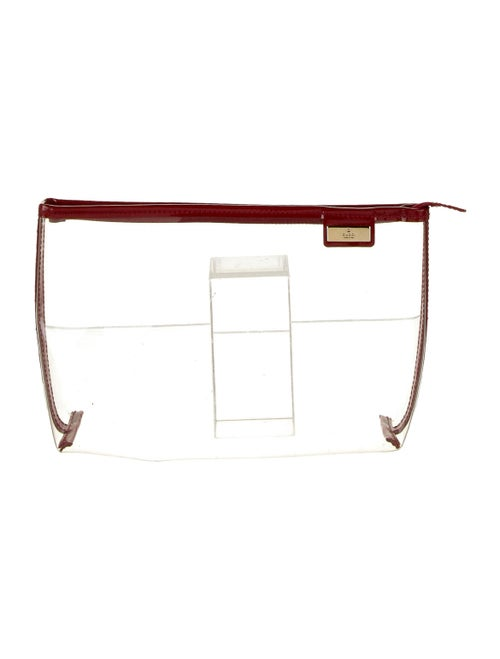 Gucci Vintage PVC Cosmetic Bag Clear