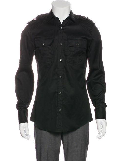 Gucci Gucci Web Accent Long Sleeve Shirt Black