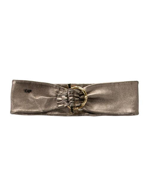 Gucci Bamboo Leather Belt gold