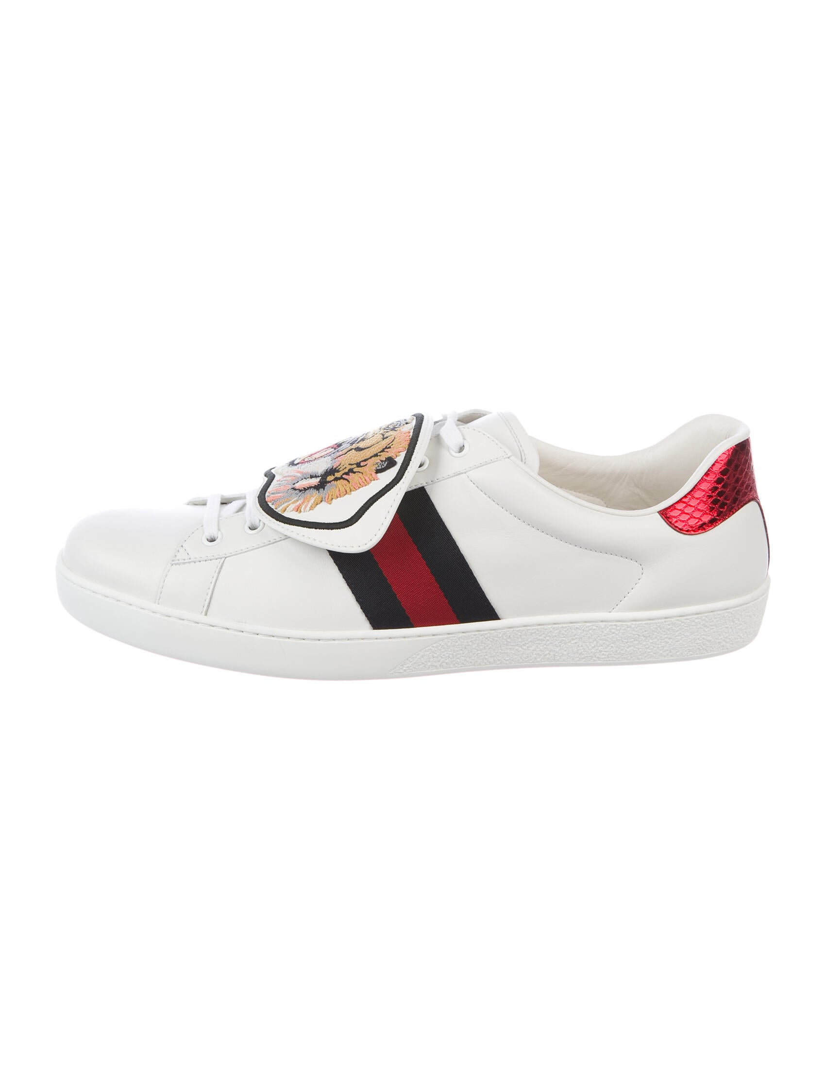 Gucci Ace Tiger Patch Sneakers - Shoes