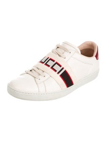 Gucci Leather Graphic Print Sneakers