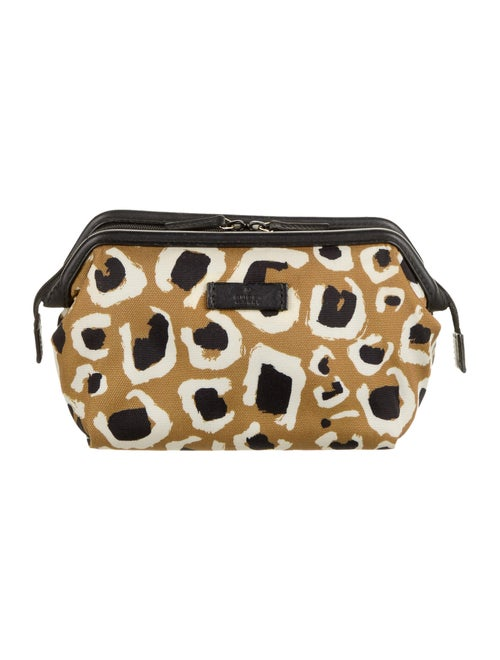 Gucci Leopard Print Cosmetic Pouch Leopard
