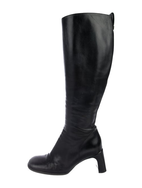 Gucci Leather Knee-High Boots Black