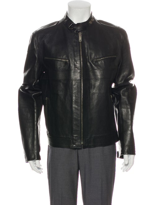 Gucci Leather Moto Jacket Black