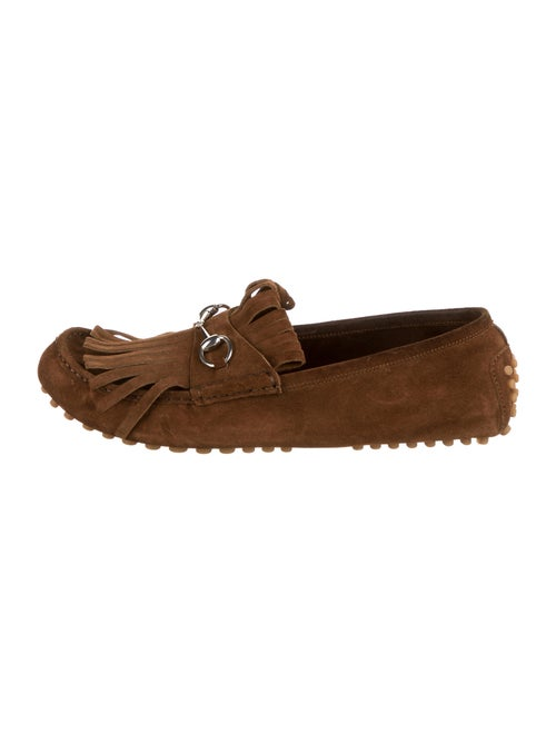 Gucci Suede Horsebit Loafers brown