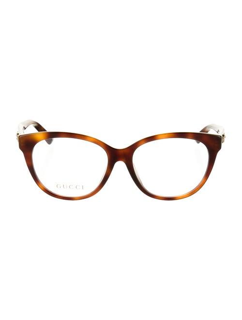 Gucci Cat-Eye Embellished Eye Glasses Brown