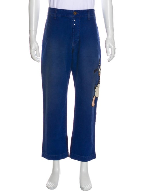 Gucci Donald Duck Embroidered Pants Blue