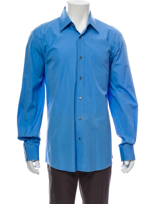 Gucci Long Sleeve Dress Shirt Blue