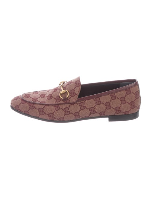 Gucci Printed Loafers Red