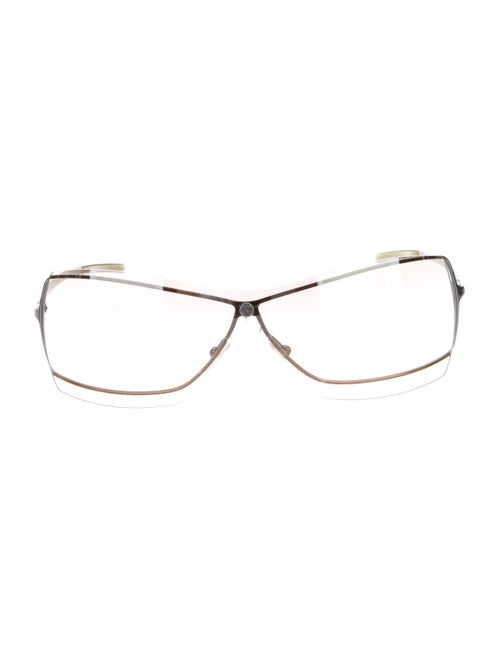 Gucci Rimless Tinted Sunglasses Silver
