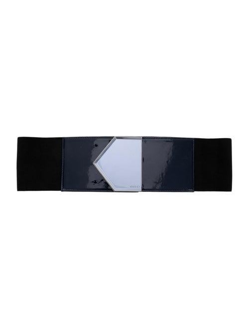 Gucci Patent Leather Waist Belt Black