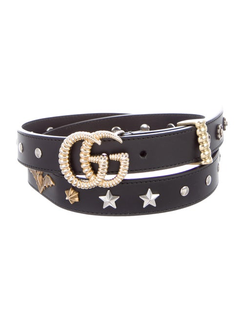 Gucci Studded Leather Belt Black