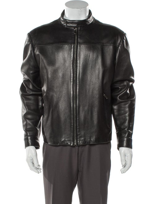 Gucci GG Plus Leather Moto Jacket Black