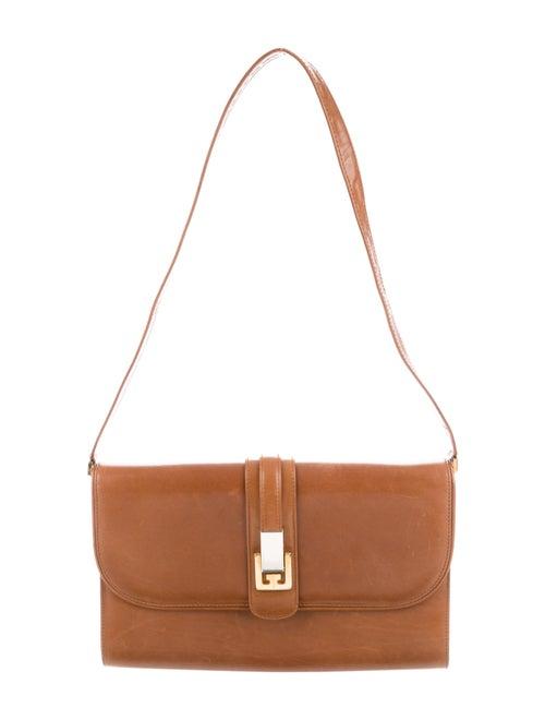 Gucci Vintage Leather Shoulder Bag Cognac