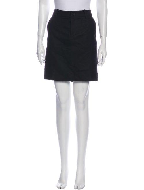 Gucci Lambswool Mini Skirt Black