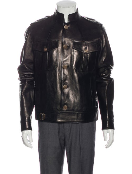 Gucci Leather Jacket Black