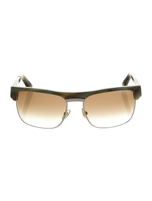 Gucci Tinted Square Sunglasses Green
