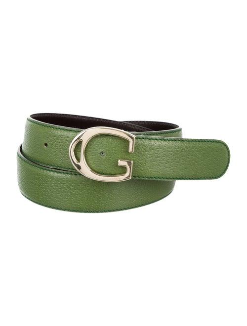 Gucci Vintage Leather Belt Green