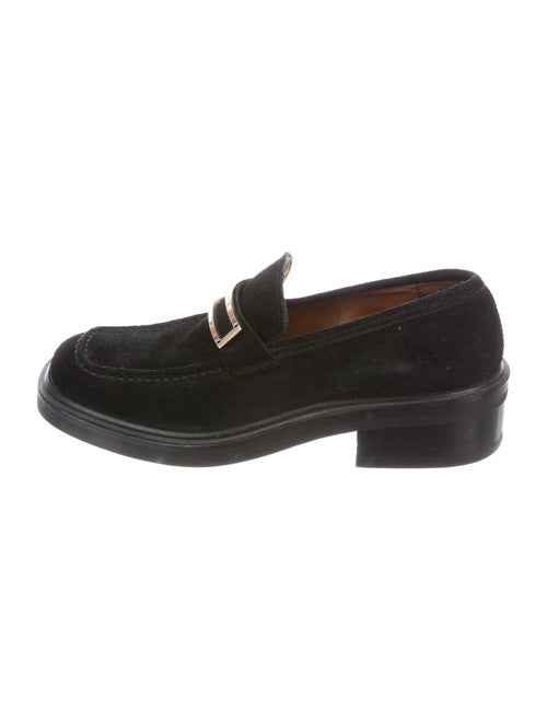 Gucci Suede Loafers Black