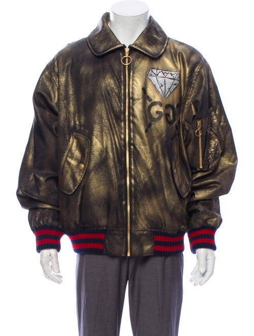 Gucci 2016 GucciGhost Jacket Brown
