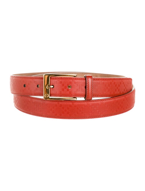 Gucci Diamante Leather Belt gold