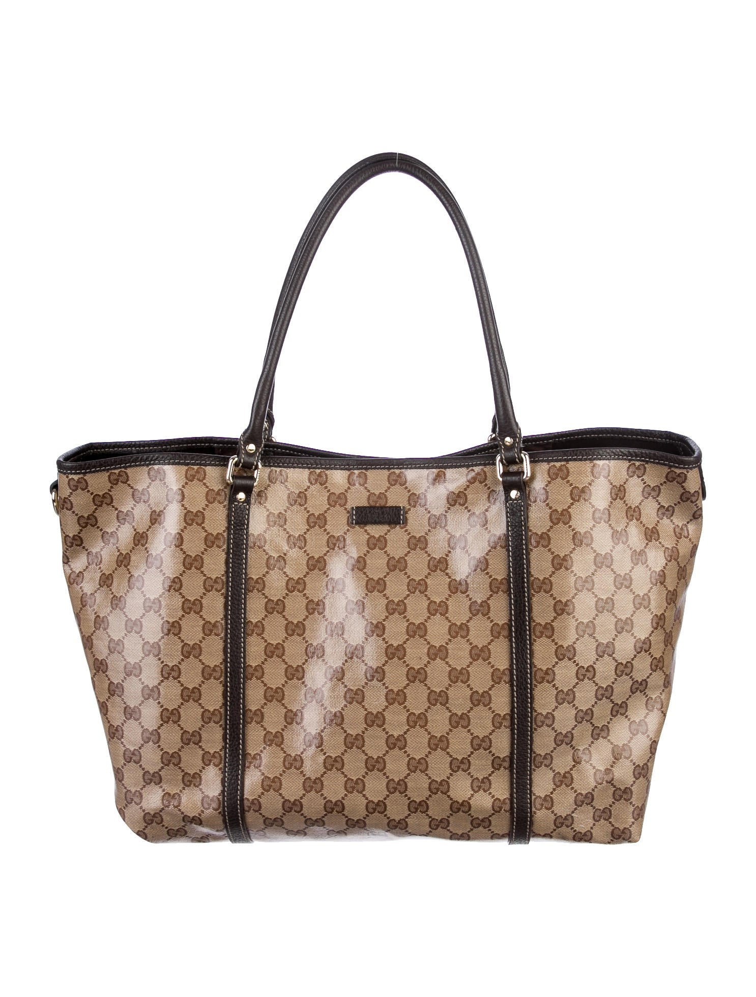 d3696e08b0d Gucci Beige Ebony Signature Gg Crystal Joy Medium Tote Bag 10846 Lyst Gucci  Joy Gg Supreme ...